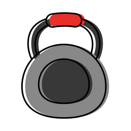 dumbbell icon over white background vector illustration