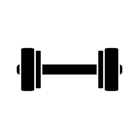 heavy metal: dumbbell icon over white background vector illustration
