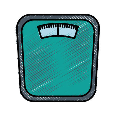 bathroom scale: Weighing scale icon vector illustration
