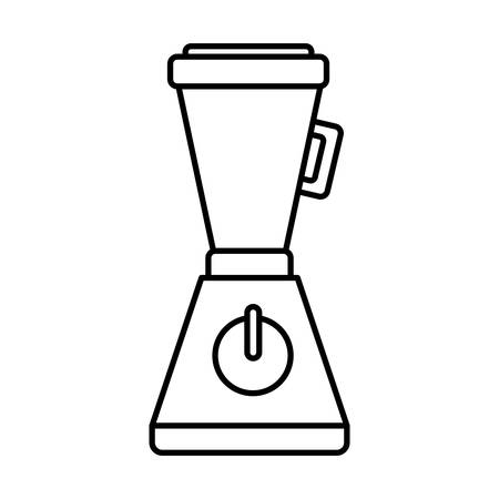 kitchen cleaning: blender icon over white background vector illustration
