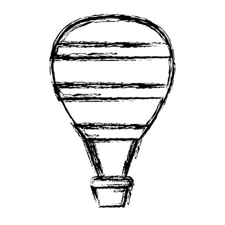 air balloon icon over white background vector illustration
