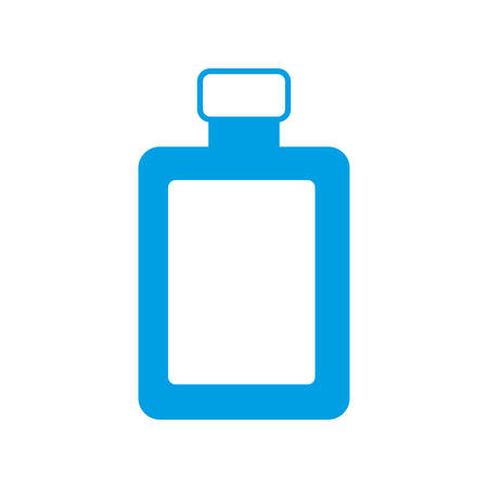liquor bottle icon over white background vector illustration Illustration