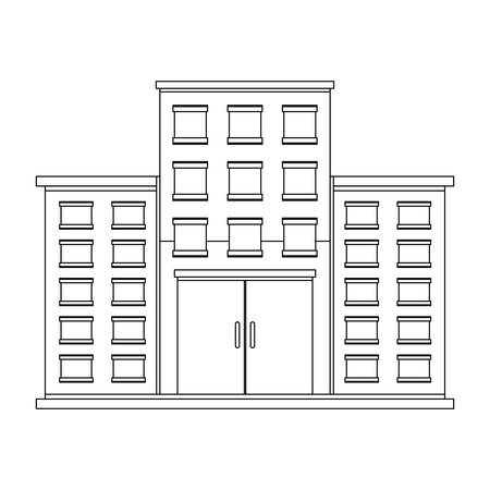 hospital building icon over white background vector illustration