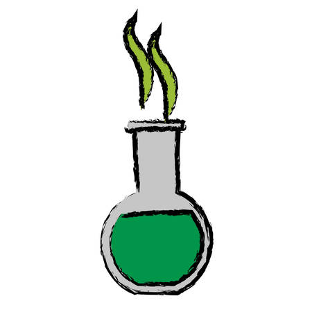 chemical flask icon over white background vector illustration
