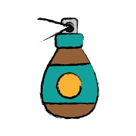 Cartoon illustration of fragrance bottle icon over white background vector illustration