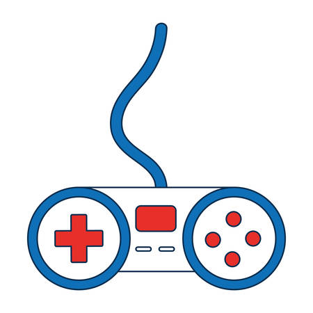 obsession: videogame controller icon over white background vector illustration Illustration