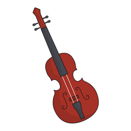 fiddle instrument icon over white background vector illustration Illustration