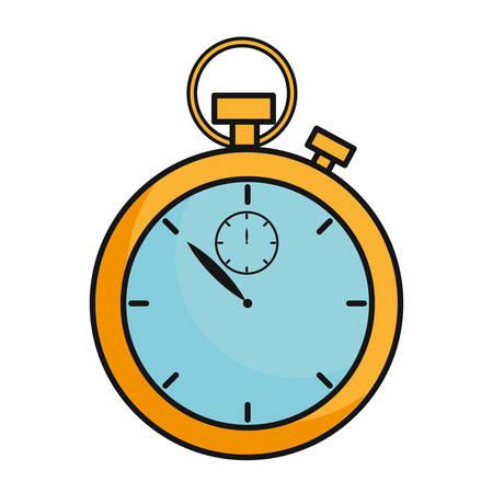 chronometer icon over white background vector illustration Illustration