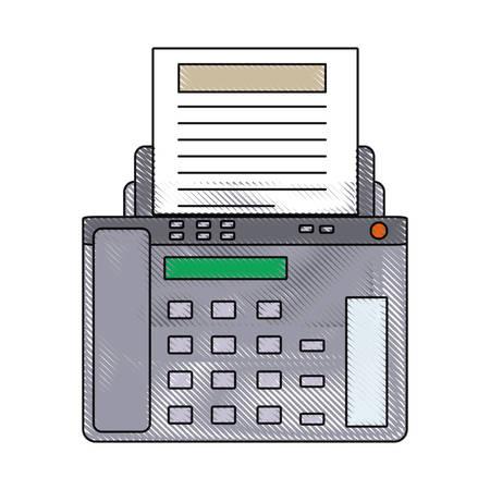 fax machine icon over white background vector illustration Illustration