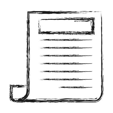 krantenpictogram over witte achtergrond vectorillustratie