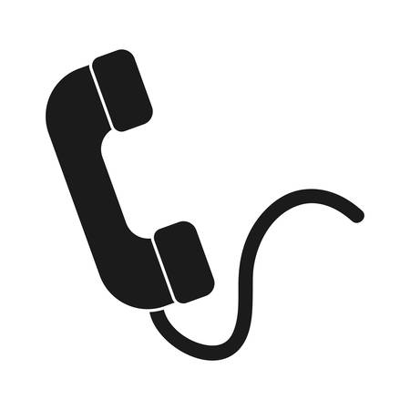 phone icon over white background vector illustration