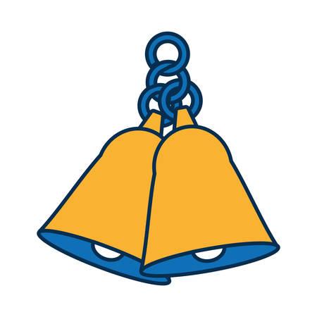 bells icon over white background vector illustration