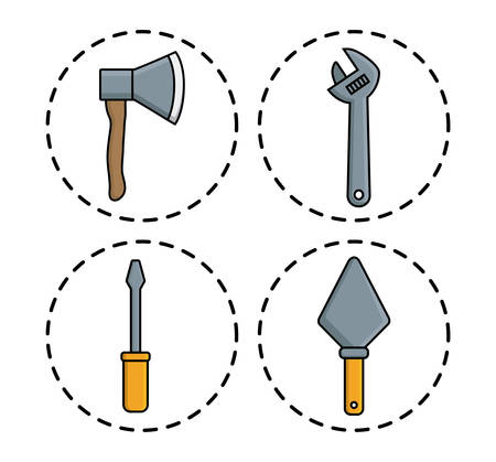 repair tools related icons over background colorful design vector illustration
