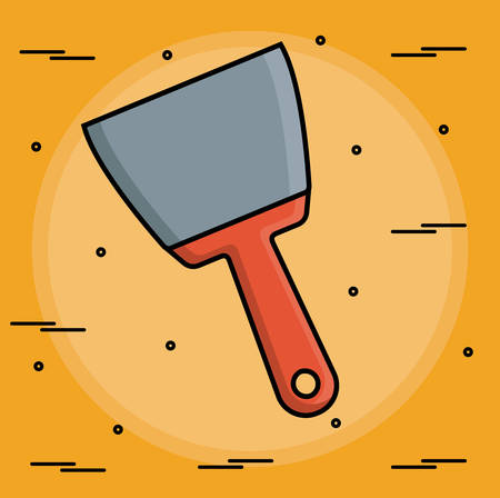 install: spatula icon over yellow background colorful design vector illustration Illustration