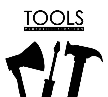 install: silhouette of repair tools icon over white background vector illustration