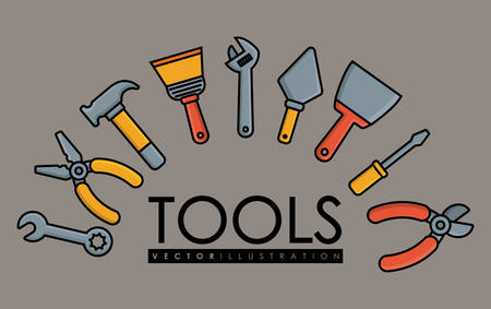 repair tools related icons over gray background colorful design vector illustration