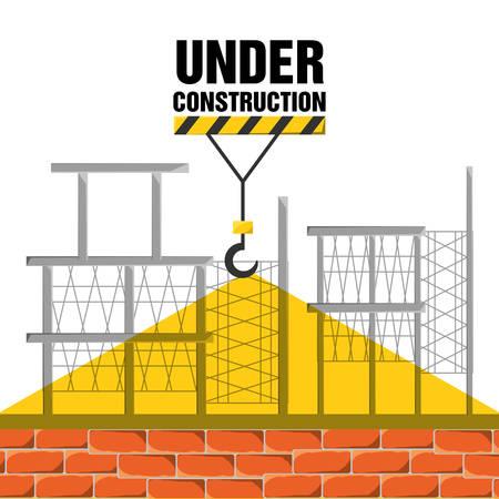 civil construction: flat under construction concept vector illustration design