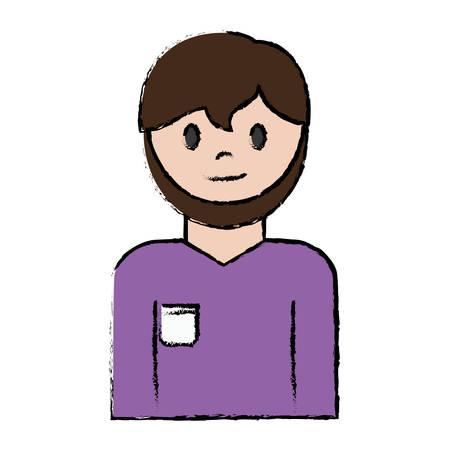 install: cartoon plumber man icon over white background vector illustration