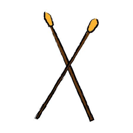 Drumsticks icon vector illustration