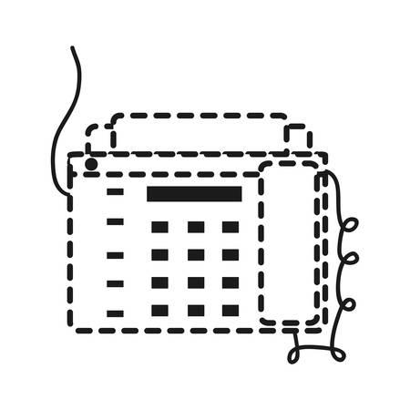 Fax machine icon vector illustration