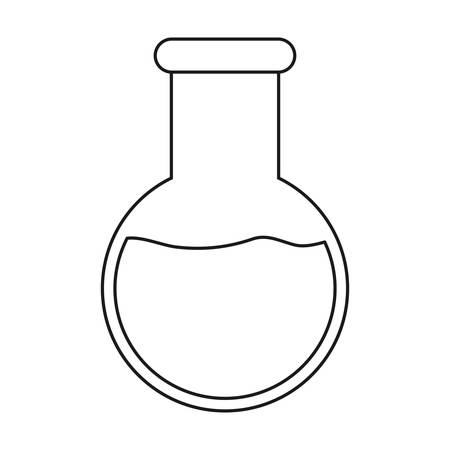toxic substance: chemical flask icon over white background vector illustration