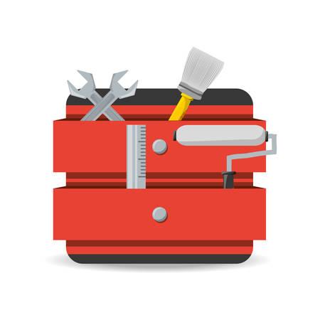 tool box to repair service vector illustration Illustration