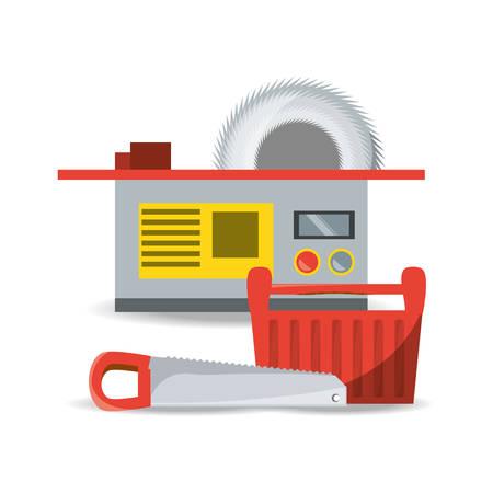 equipment tool and mechanic repair service vector illustration