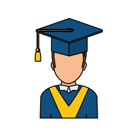 Student graduation hat icon vector illustration graphic design