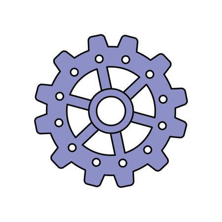 processors: Gear machinery piece icon vector illustration graphic design