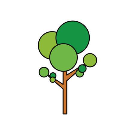 Tree nature symbol icon vector,illustration graphic design