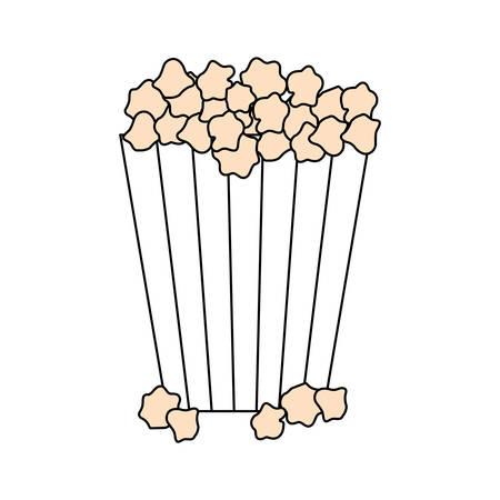 pop corn: Pop corn snack icon vector illustration graphic design