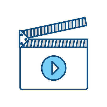 film industry: Clapboard movie isolated icon vector illustration graphic design