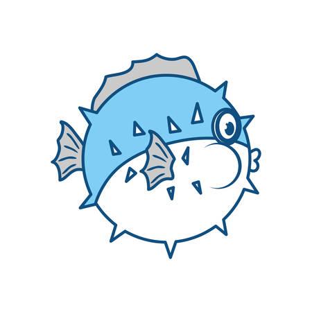 Cute fish cartoon icon vector illustration graphic design