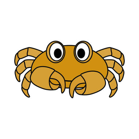 Cute crab cartoon icon vector illustration graphic design Illustration
