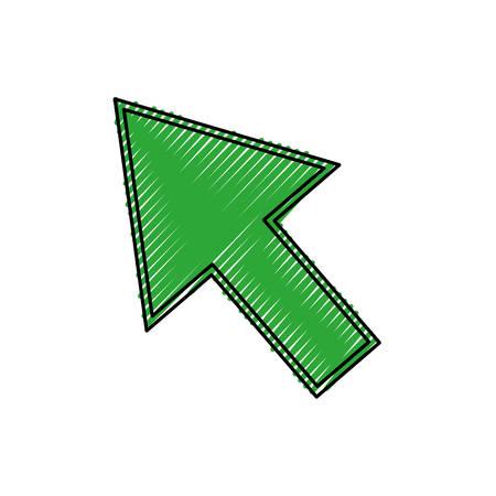illustraion: Click arrow cursor icon vector illustration graphic design Illustration