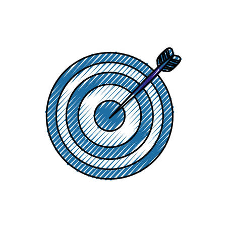 dart board: Target dartboard symbol icon vector illustration graphic design Illustration