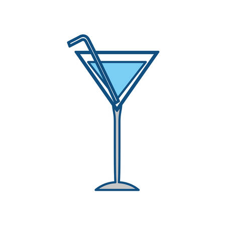 Drink in glass cup icon vector illustration graphic design