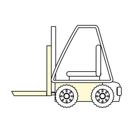 Forklift cargo vehicle icon vector illustration graphic design Illustration