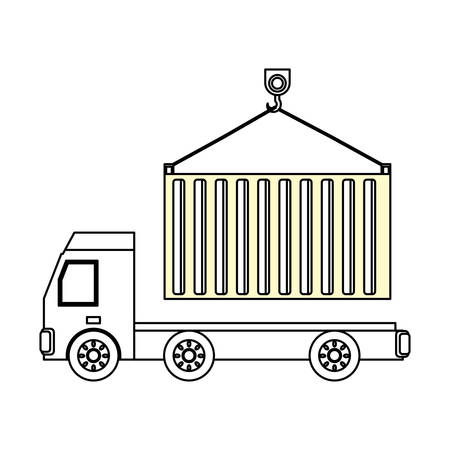 Delivery truck vehicle icon vector illustration graphic design Illustration