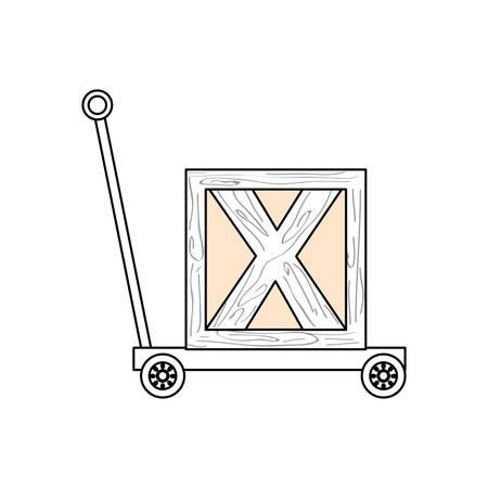 trolley hydraulic icon vector illustration graphic design