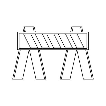 白の背景ベクトルイラストの上に建設バリアアイコン  イラスト・ベクター素材