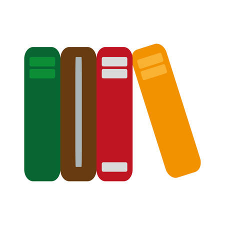 Academic books icon over white background vector illustration Illustration