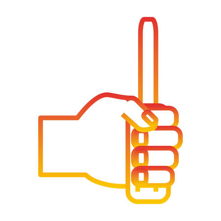 hand holding a screwdriver icon over white background vector illustration Illustration
