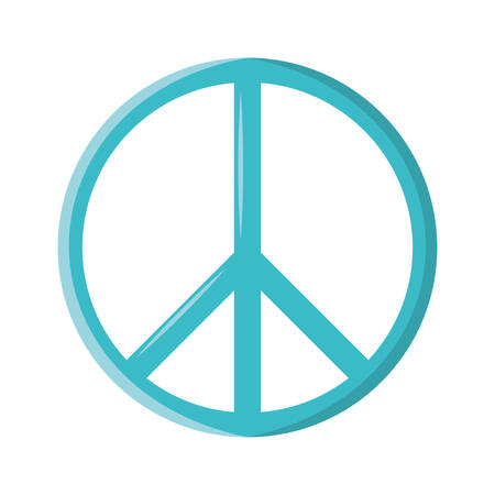 colorful  symbol peace over white  background vector illustration