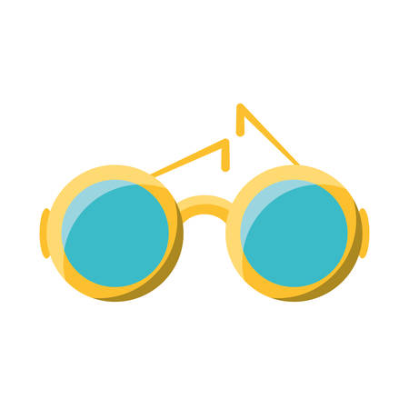 colorful  sunglasses over white  background vector illustration