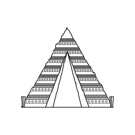 Uncolored hippie carp over  white background vector illustration