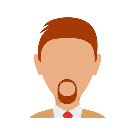 ceo office: Colorful  executive man  avatar over white  vector illustration Illustration