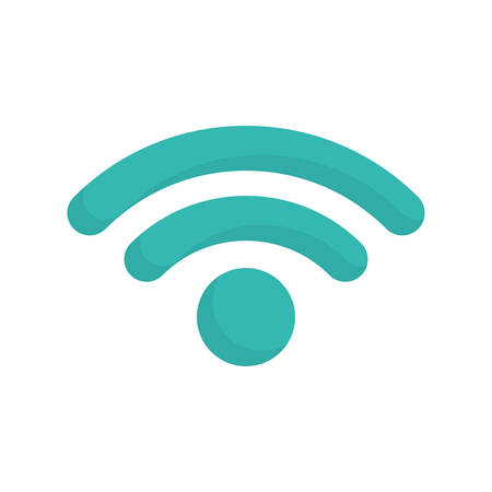 Wireless sign icon over white background vector illustration