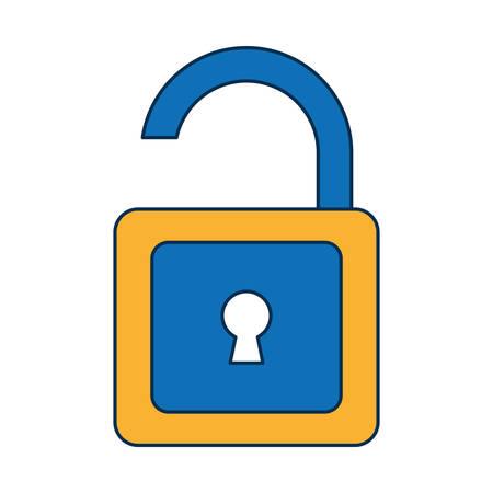 Cartoon illustration of padlock