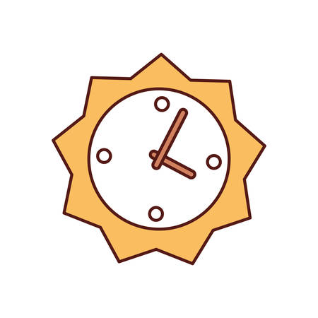 colorful clock over white  background vector illsutration